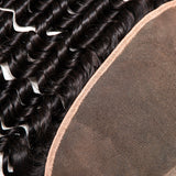 [Abyhair 10A] Indian Deep Wave 3 Bundles With 13x 4 Lace Frontal Closure With Baby Hair