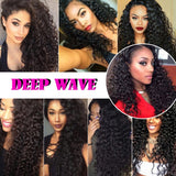 [Abyhair 8A] Deep Wave 360 Lace Frontal With 2 Bundles Natural Hairline Malaysian Remy Hair Weave