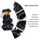[Abyhair 10A] Malaysian Body Wave Hair 3 Bundles 100% Human Hair Weave Extensions