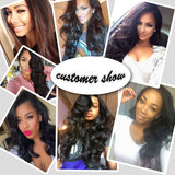 [Abyhair 9A] Body Wave 3 Bundles With 4x4 Lace Closure Peruvian Human Hair