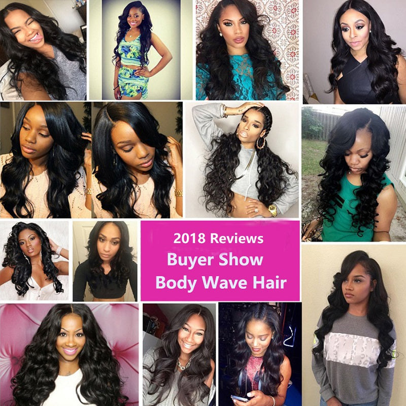 [Abyhair 10A] Peruvian Body Wave Hair 3 Bundles 100% Human Hair Weave Extensions