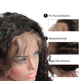 [Abyhair 10A] Indian Deep Wave 2 Bundles With 360 lace Frontal Closure Virgin Human Hair