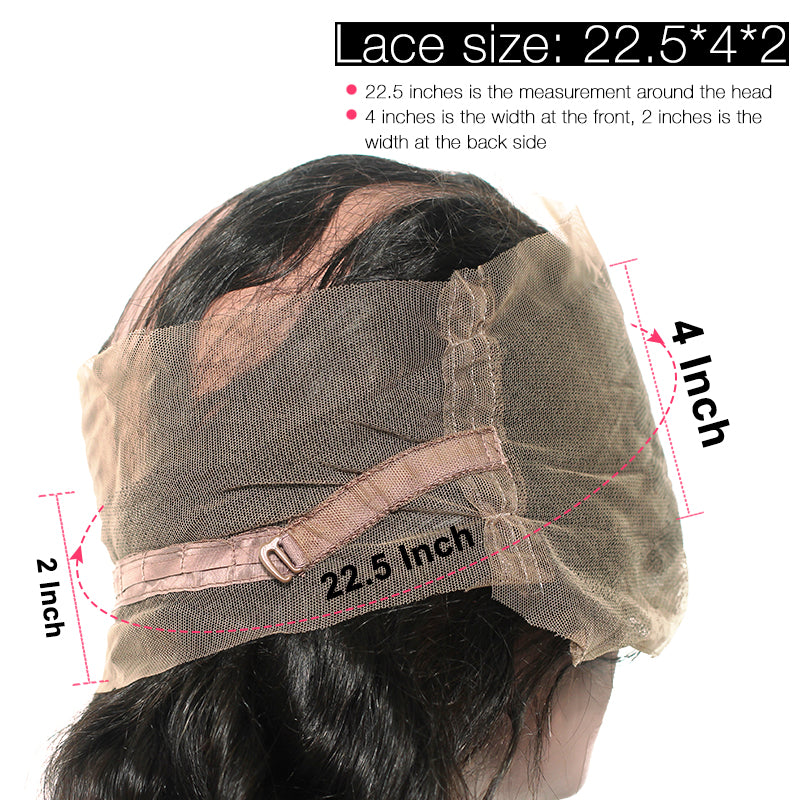 [Abyhair 9A] 360 lace Frontal Closure With 2 Bundles Indian Deep Wave Hair Weave