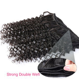 [Abyhair 8A] Deep Wave 4 Bundles With Lace Frontal 13x4 Closure Peruvian Remy Hair
