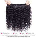 [Abyhair 9A] Deep Wave 3 Bundles With 4x4 Lace Closure Brazilian Human Hair