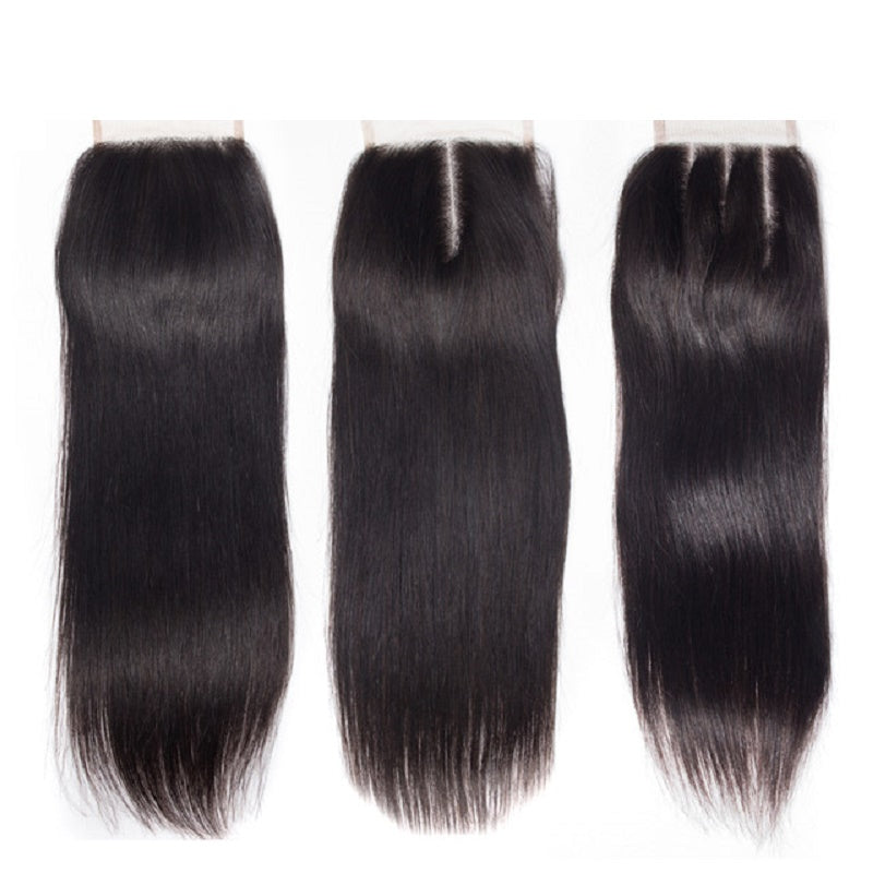 "[Abyhair 8A] Straight Hair 4""x4"" Lace Closure Pre Plucked with Baby Hair"