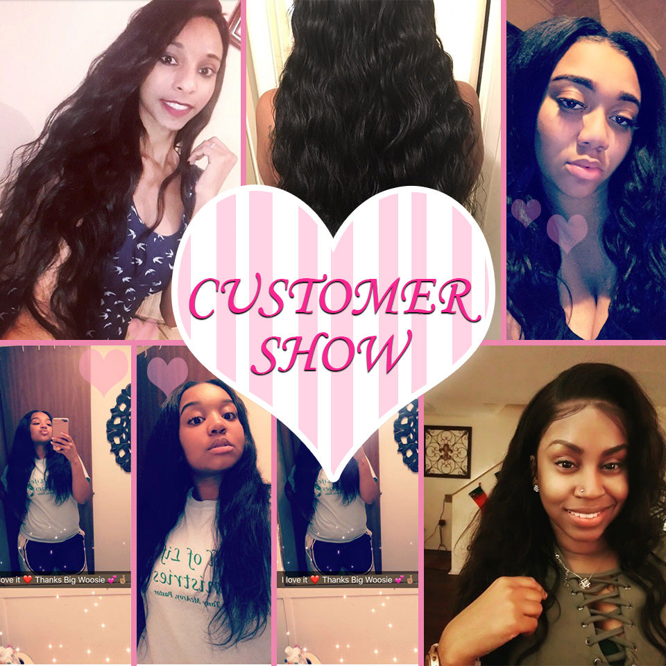 [Abyhair 9A] Body Wave 13x 4 Lace Frontal Closure With 3 Bundles Malaysian Human Hair