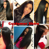 [Abyhair 10A] Peruvian Straight 4 Bundles With 13x 4 Lace Frontal Closure With Baby Hair