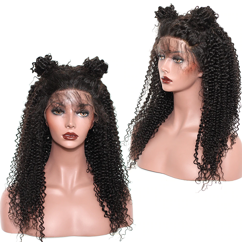 Kinky Curly 13x4 Lace Front Human Hair Wig Pre Plucked With Baby Hair For Women