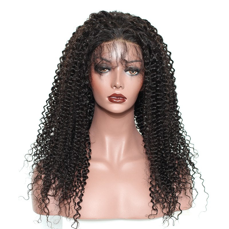 Kinky Cury Glueless Full Lace Human Hair Wigs Bleached Knots Pre Plucked With Baby Hair