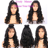13x4 Loose Wave Lace Front Human Hair Wigs Pre Plucked With Baby Hair For Women