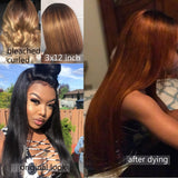 [Abyhair 9A] Straight Hair 13x 4 Lace Frontal Closure With 3 Bundles Indian Human Hair