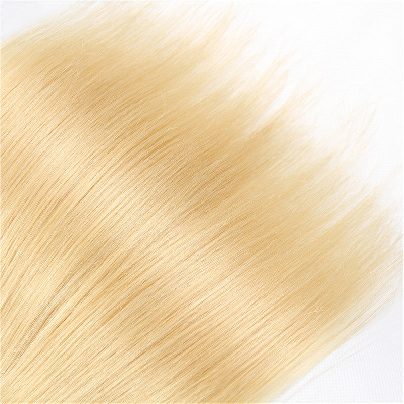 [Abyhair 10A] Ombre 1B/613 Color Straight 3 Bundles Brazilian Virgin Human Hair Weave