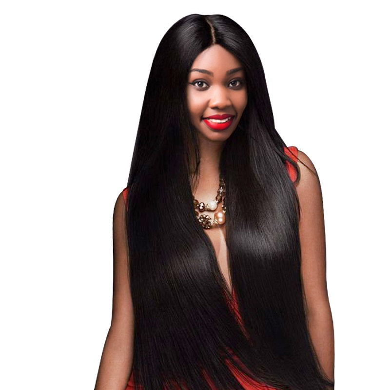 [Abyhair 8A] Brazilian 4 Bundles With 4x4 Lace Closure Straight Remy Human Hair