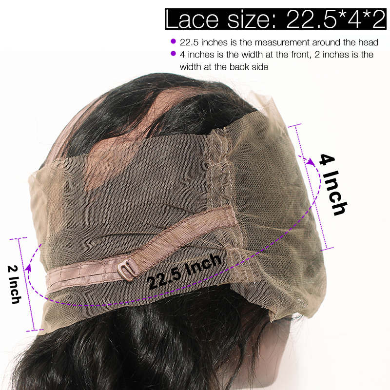 10A Virgin Body Wave 360 Lace Frontal Closure Free Part With Baby Hair
