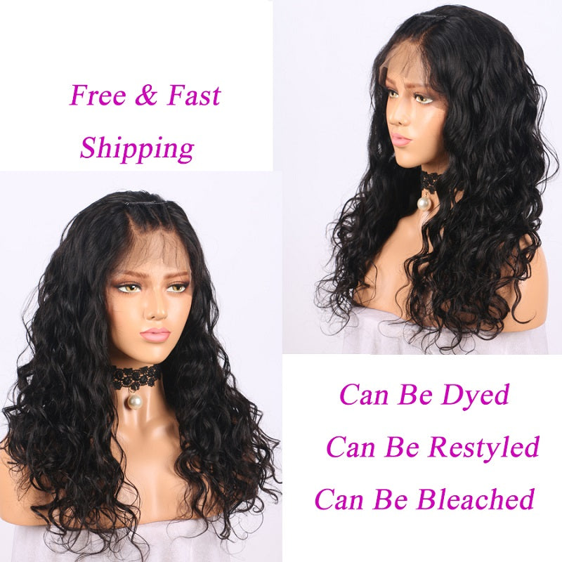 13x4 Wavy Lace Front Human Hair Wigs Pre Plucked With Baby Hair For Women
