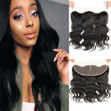 9A Virgin Body Wave 13x4 Lace Frontal Closure Free Part With Baby Hair