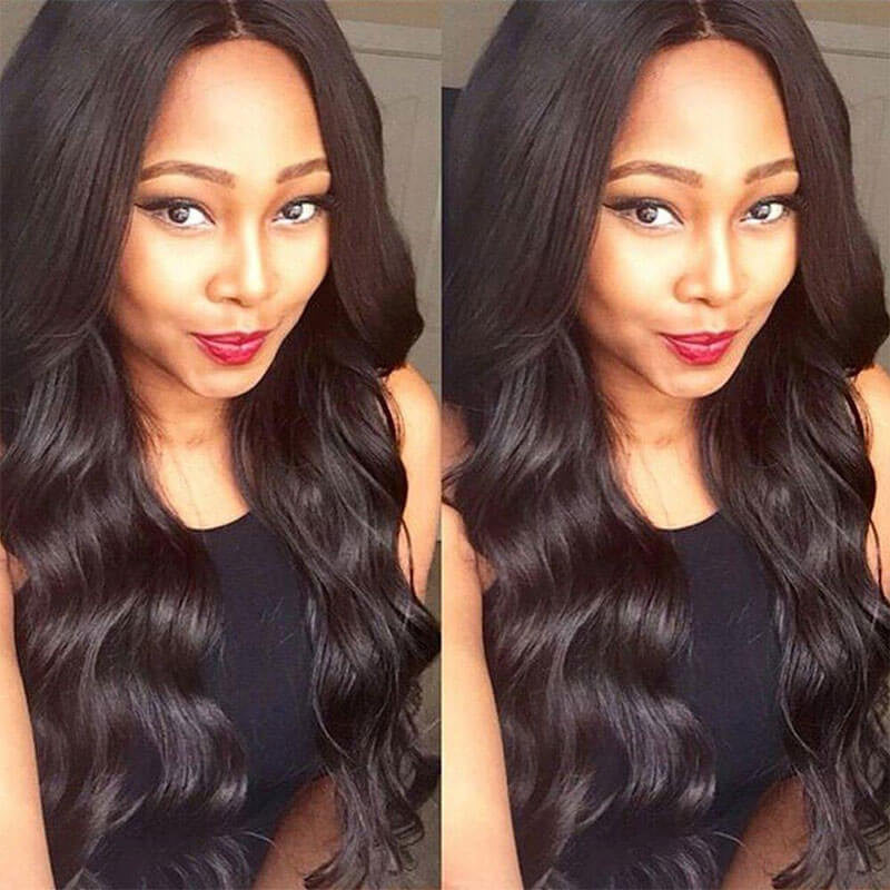 [Abyhair 9A] 360 lace Frontal Closure With 2 Bundles Malaysian Body Wave Hair Weave