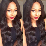 [Abyhair 8A] Body Wave 360 Lace Frontal With 2 Bundles Natural Hairline Malaysian Remy Hair Weave