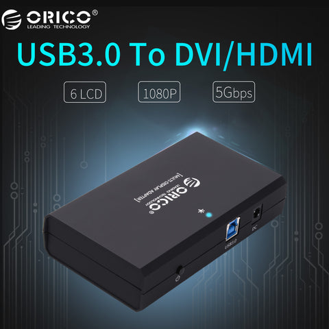 USB3.0 to DVI/HDMI External Monitor Converter Connector
