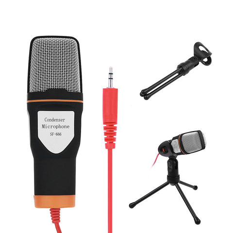 Wired Microphone with Mic Stand Holder