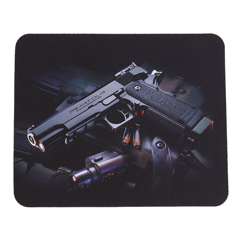 Fashion Guns Pattern Picture Anti-Slip Computer Gaming Mouse Pad Mat Mousepad 22cm*18cm P15