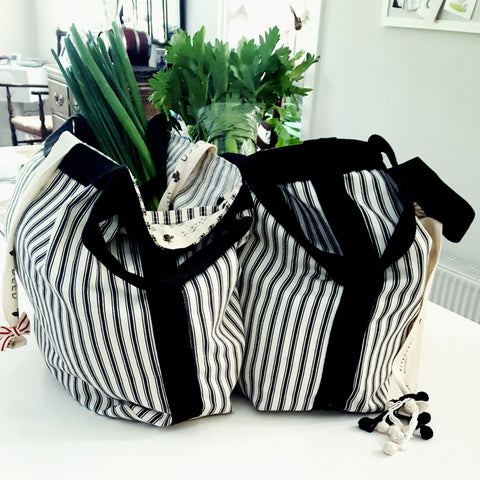 DEED bags CLASSIC Collection - ticking stripe