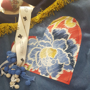 HEARTS - Denim with Vintage French Fringing