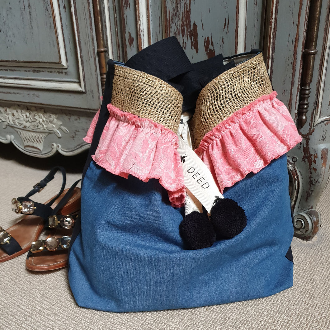 FASHIONISTA - Denim + Double French Vintage Ruffle