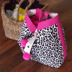 Luxe Leopard with hot pink trims