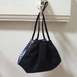 FACE MASK - Non-Medical - Black / Royal Blue Gingham