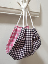 FACE MASK - Non-Medical - Black Gingham / Pink Gingham