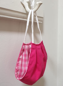 FACE MASK - Non-Medical - Hot Pink  / Pink Gingham