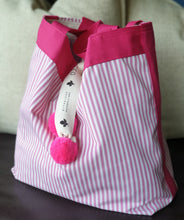 LUXE - Ticking Stripe - Magenta Pink with Pink Trim