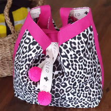 LUXE - Leopard with Hot Pink Trim and Pompoms
