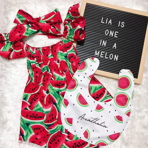 One in Melon Party with Personalized Bib from Bibs Manila