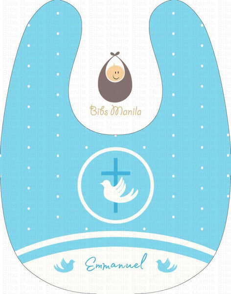 Boy Baptism Personalized Baby Bib