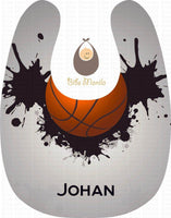 Basketball Splash Personalized Baby Bib