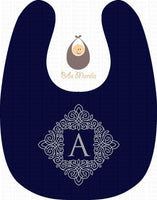 Blue Initial Personalized Baby Bib