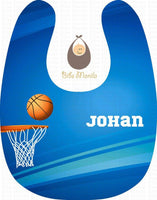 Bluesketball Personalized Baby Bib
