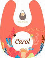 Corals with Fish Personalized Baby Bib