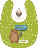 Cute Parent Bears Apple Green / With Snow Bibs
