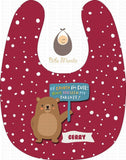 Cute Parent Bears Burgundy / With Snow Bibs