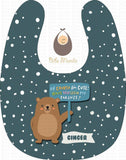 Cute Parent Bears Dark Blue / With Snow Bibs