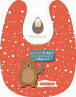 Cute Parent Bears Orange / With Snow Bibs