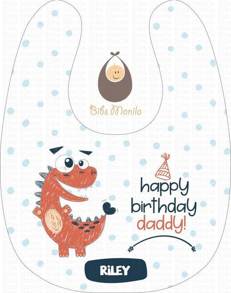 Dino Birthday Greeting Bibs