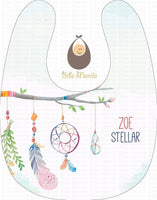 Dream without fear Dream Catcher Personalized Baby Bib