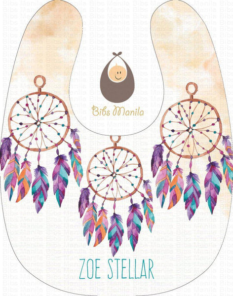 Dreams can come true three dream catchers Personalized Baby Bib
