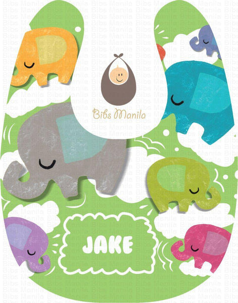 Elephant Dreams Avocado Bibs