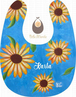 Hand-Painted Bib 2: Sunflowers Bibs